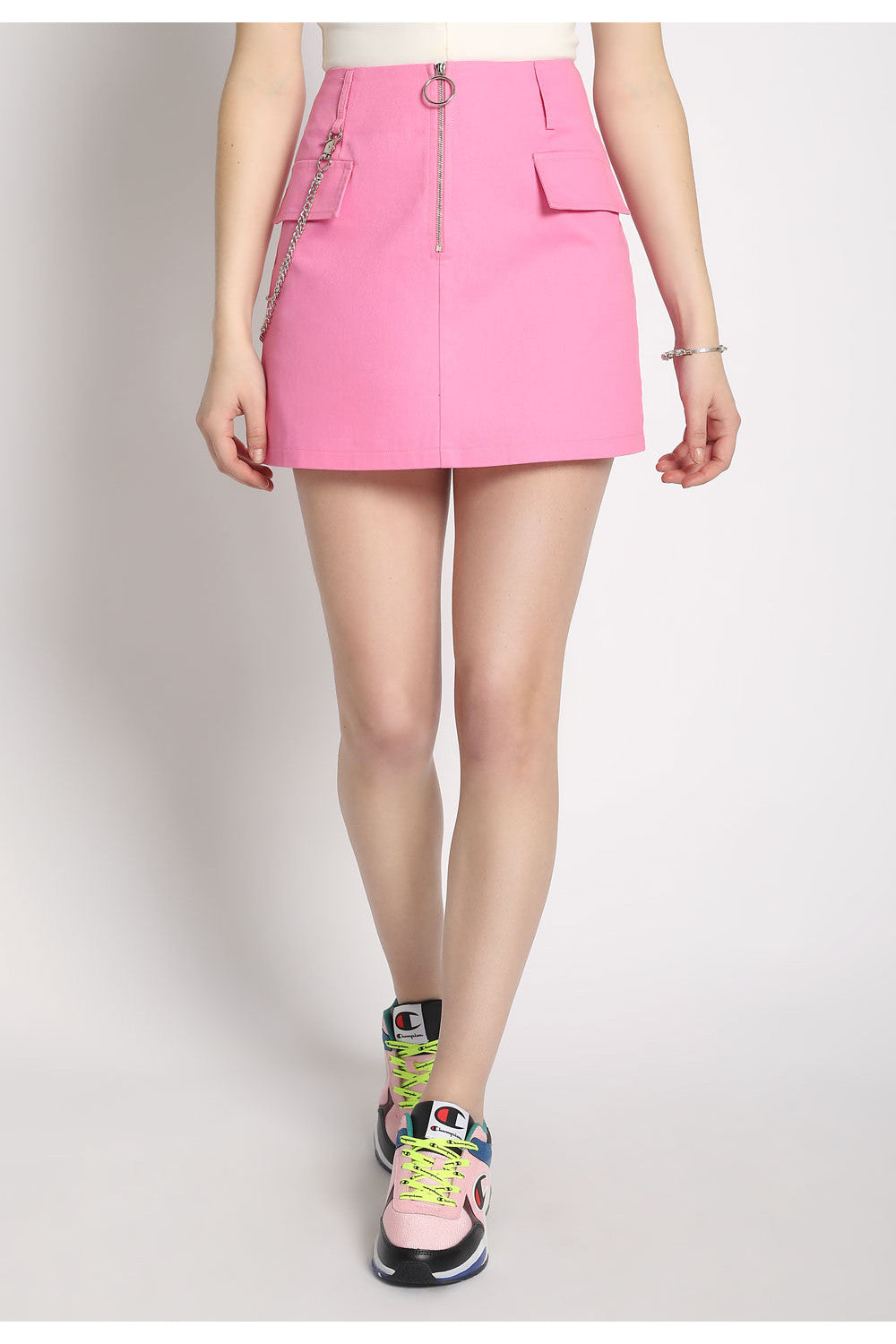 Pink O-Ring Mini Skirt