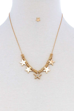 Multi Star Necklace Set