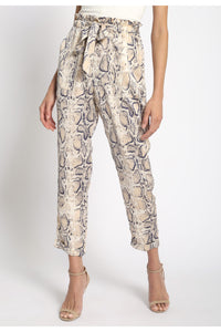 Snake Tie-Front Pant
