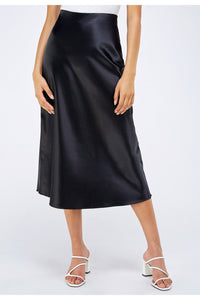 Satin Slip Midi Skirt