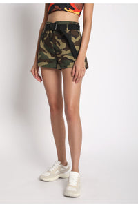 Army Shorts With Belt