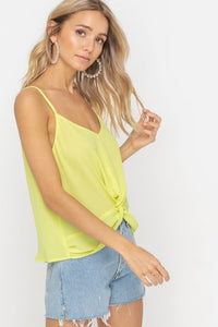 Neon Lime Twist Front Tank