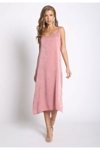 Mauve Side Slit Midi Slip Dress