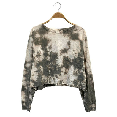 COTTON TIE DYE PULLOVER LONG SLEEVE-OLIVE