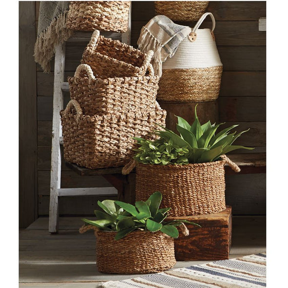 RECTANGLE CATTAIL BASKET