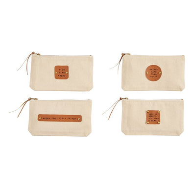 BEAUTY CANVAS & LEATHER POUCHES