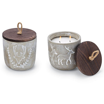 DEER CONCRETE CANDLES