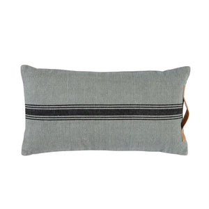 GRAY & BLACK GRAINSACK PILLOW