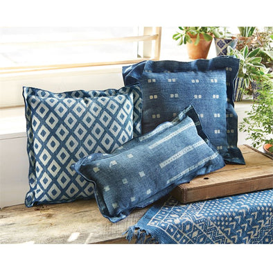 DOUBLE FLANGE BLOCK PRINT PILLOWS