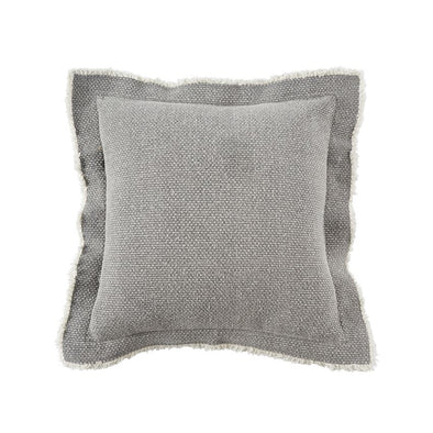 GRAY FRINGE PILLOW