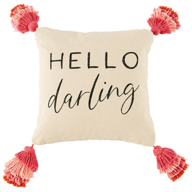 HELLO DARLING TASSEL PILLOW