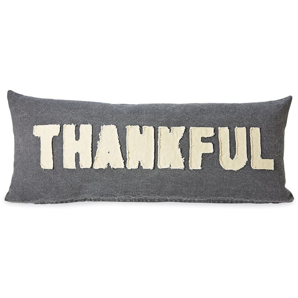 THANKFUL & BLESSES WASHED CANVAS PILLOW