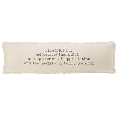 WASHED CANVAS THANKFUL DEFINITION PILLOW