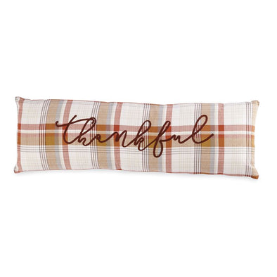 THANKFUL PLAID LONG PILLOW