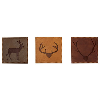 DEER FAUX LEATHER COASTERS