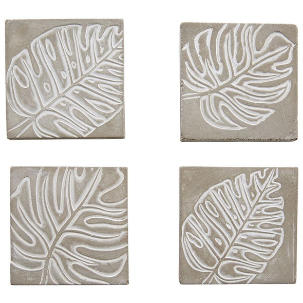 CONCRETE MONSTERA COASTER SET
