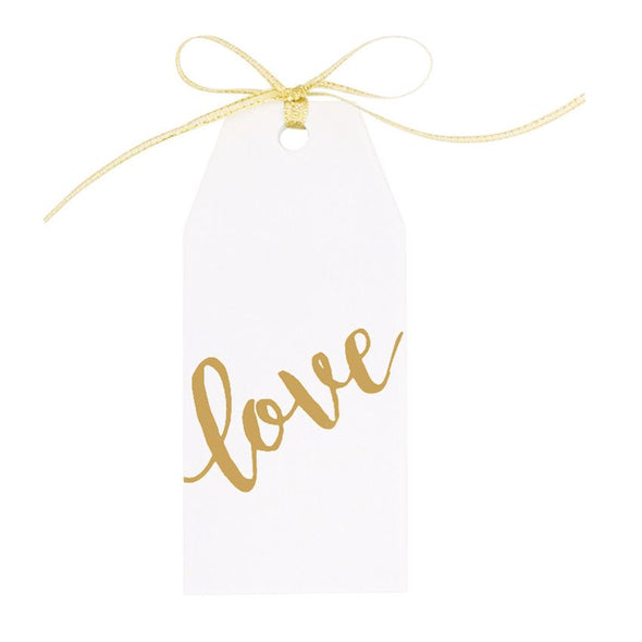 METALLIC & WOOD GIFT TAG