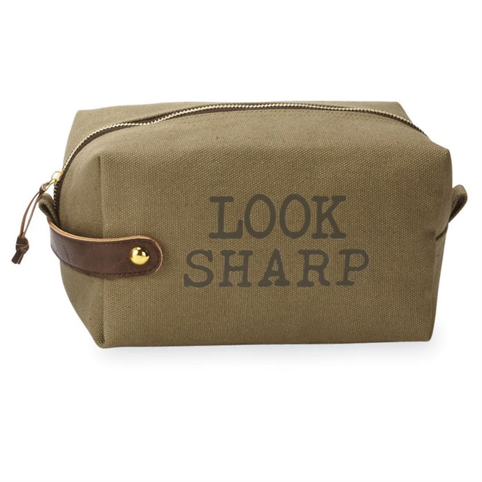 LOOK SHARP CANVAS DOPP KIT