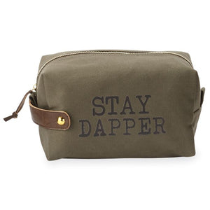 STAY DAPPER CANVAS DOPP KIT