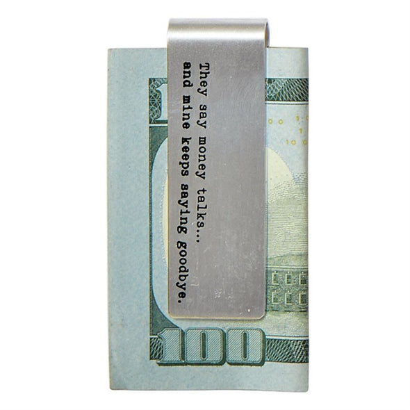 SENTIMENT MONEY CLIP BASKET