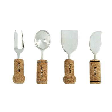 CORK SERVING UTENSIL SET