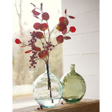DIMPLED BULB BOTTLE GLASS VASES
