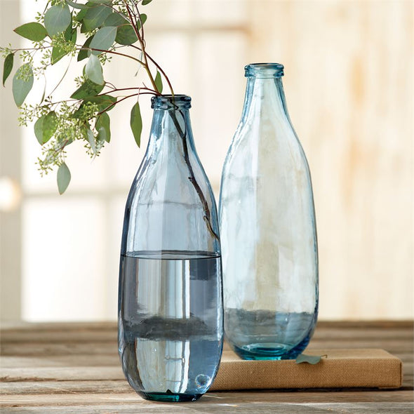 TALL & SLIM BLUE VASES