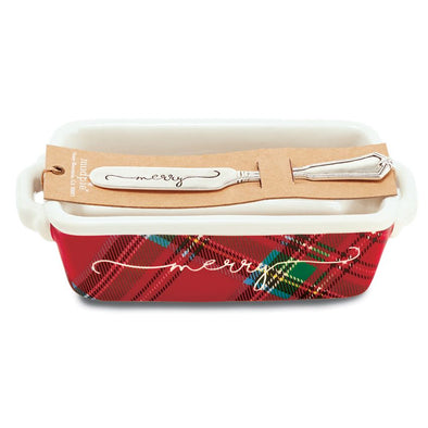 TARTAN MINI LOAF SETS - MERRY