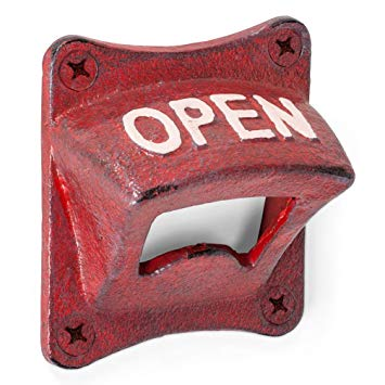 ANTIQUE RED SQUARE WALL OPENER