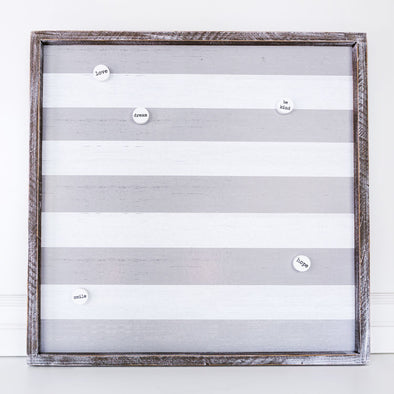 STRIPED MAGNET BOARD-GRAY