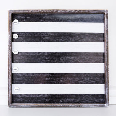 STRIPED MAGNET BOARD-BLACK