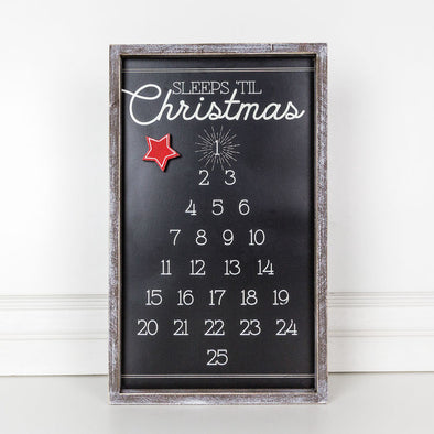 WOOD FRAMED TREE COUNTDOWN SIGN