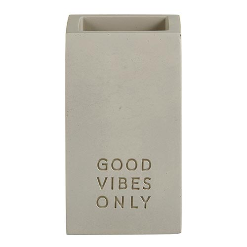 CEMENT PEN HOLDER-GOOD VIBES ONLY