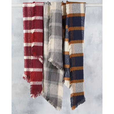 RHOMBUS PLAID SCARF