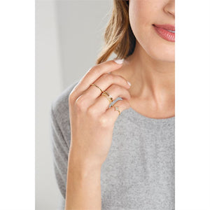 STARDUST LAYERING RINGS - BLACK