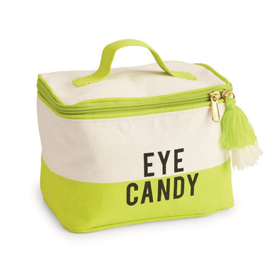 EYE CANDY COLOR-BLOCK CANVAS TRAIN CASE