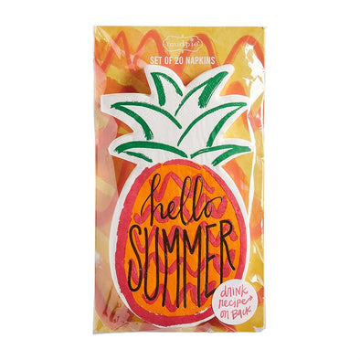 SUMMER ICON NAPKINS-PINEAPPLE