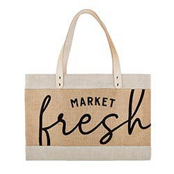 MARKET FRESH CANVAS TOTE