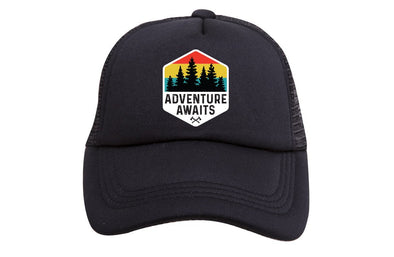 ADVENTURE AWAITS TRUCKER HAT