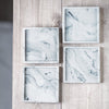 MARBLE CONCRETE SQUARE COASTER SET