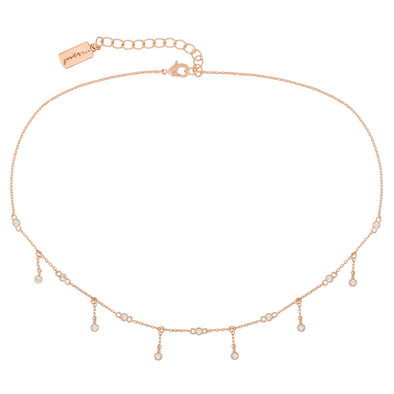 DRIPPING DIAMOND CHOKER - ROSE GOLD