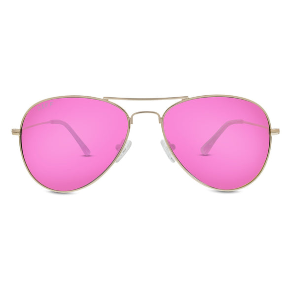 CRUZ - GOLD + PINK MIRROR LENS
