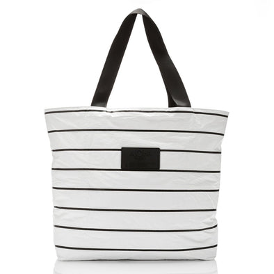 PINSTRIPE DAY TRIPPER TOTE