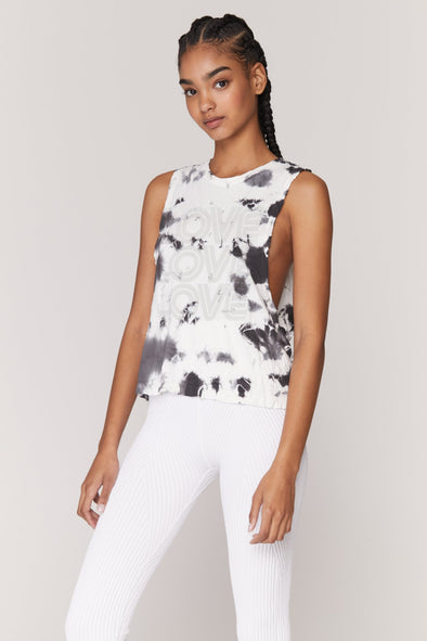 LOVE ACTIVE FLOW TANK-MOON TIE DYE