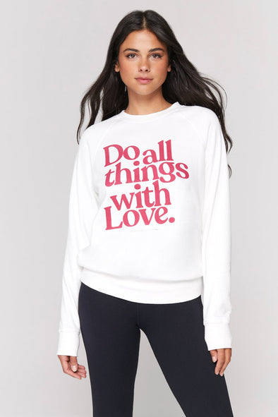 ALL THINGS WITH LOVE OLD SCHOOL PULLOVER