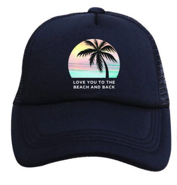 LOVE YOU TO THE BEACH AND BACK ADULT TRUCKER
