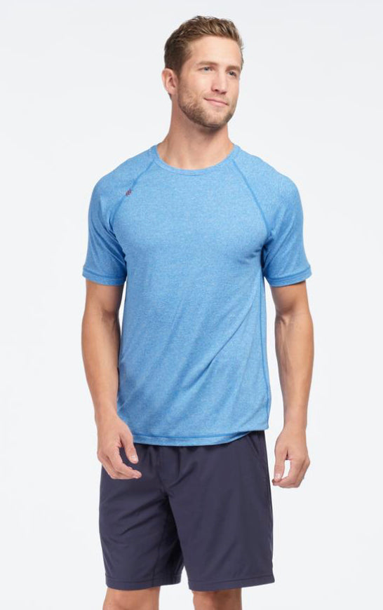 REIGN T-SHIRT - TRACK BLUE HEATHER