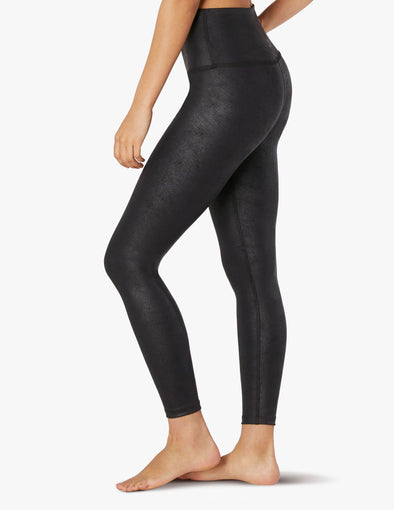 LUXE LEATHERETTE HIGH WAISTED MIDI LEGGING