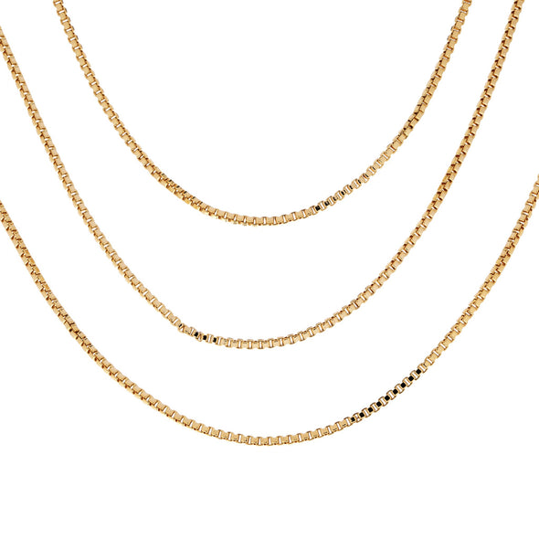 CUBED LAYERED NECKLACE: GOLD