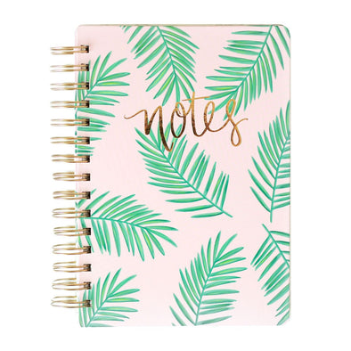 PALMS TROPICAL PINK SPIRAL NOTEBOOK